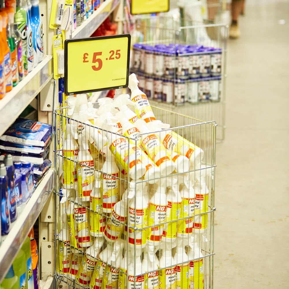Dump Bins, Shopping Baskets and Food Dispensers