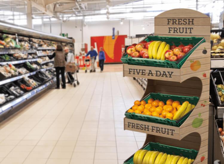 Freestanding Display Units aka FSDUs, retail floor displays from UK POS
