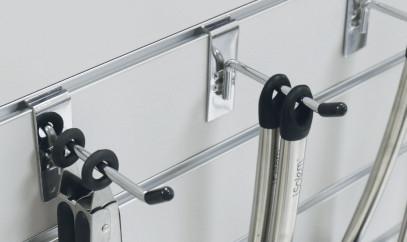 Metal slatwall hooks for retail