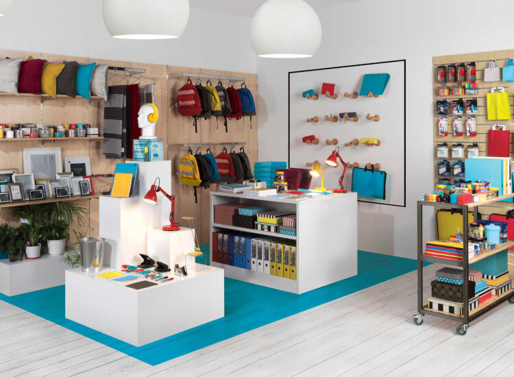 Shop display stands and shop fittings for retail display