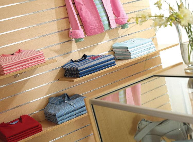 Shop wall fittings and retail gondolas