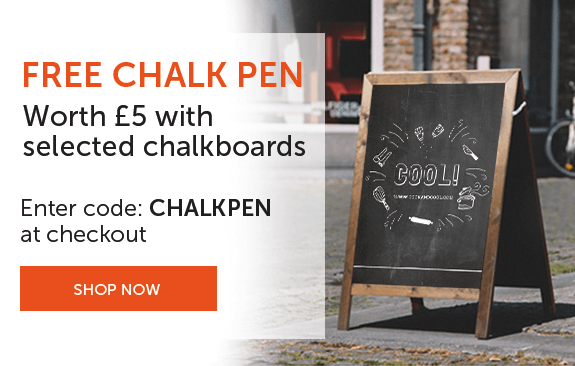 Free chalk pen with selected chalkboards