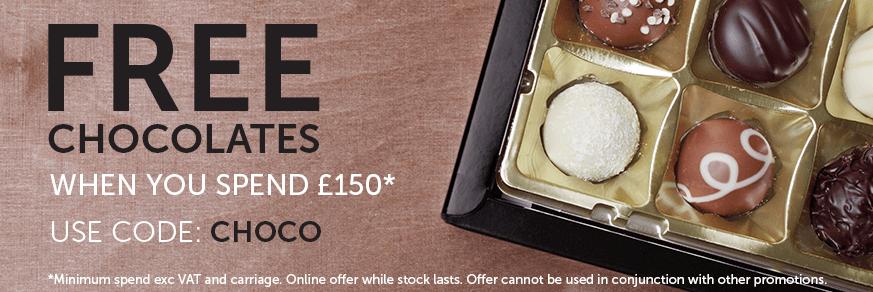 Free Chocolates over £150