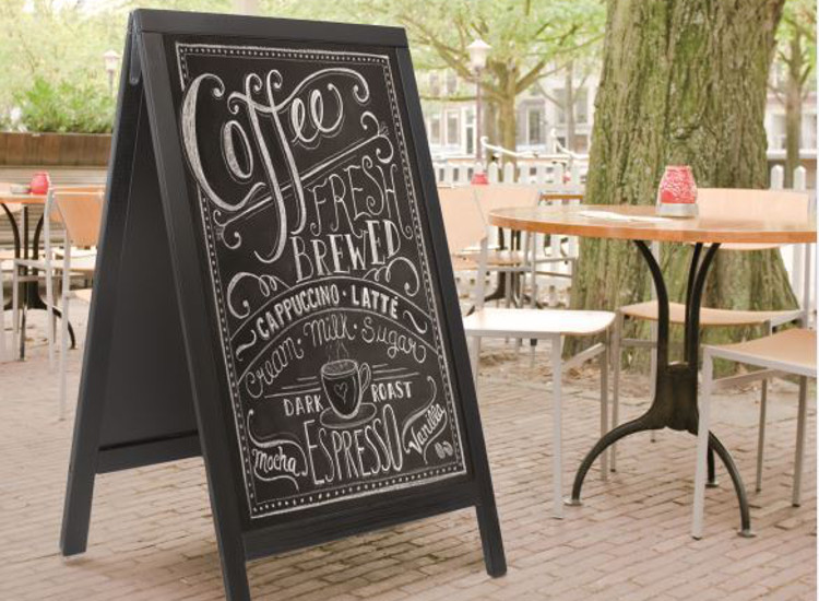 Chalkboard company signs