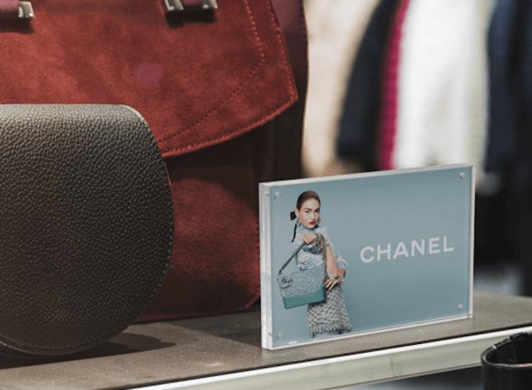 acrylic photo block for retail displays