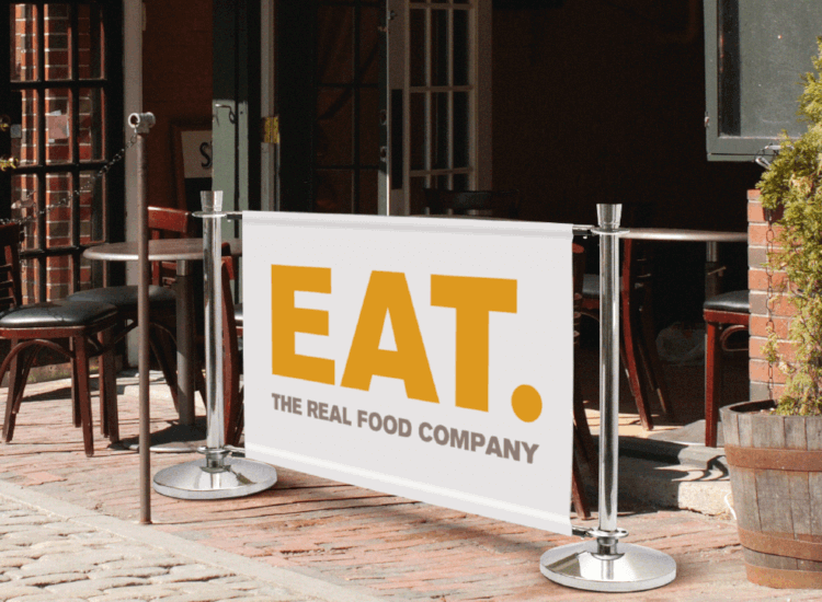 Print your company logo onto banners and barriers