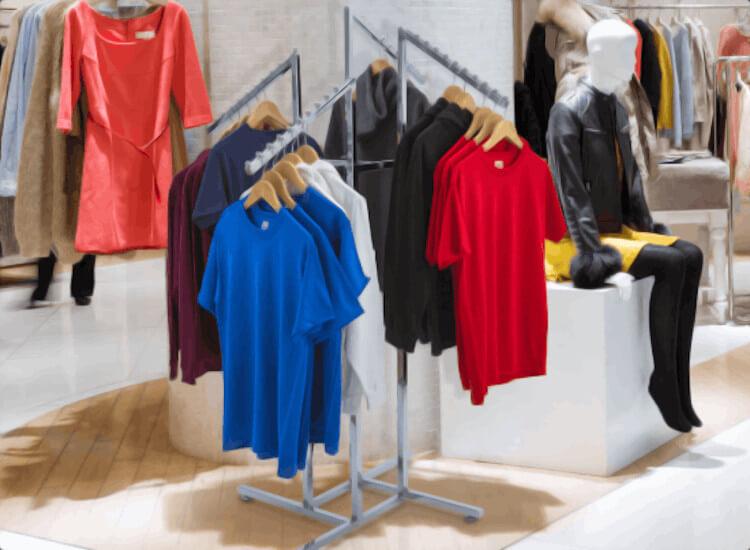 clothing displays garment rails