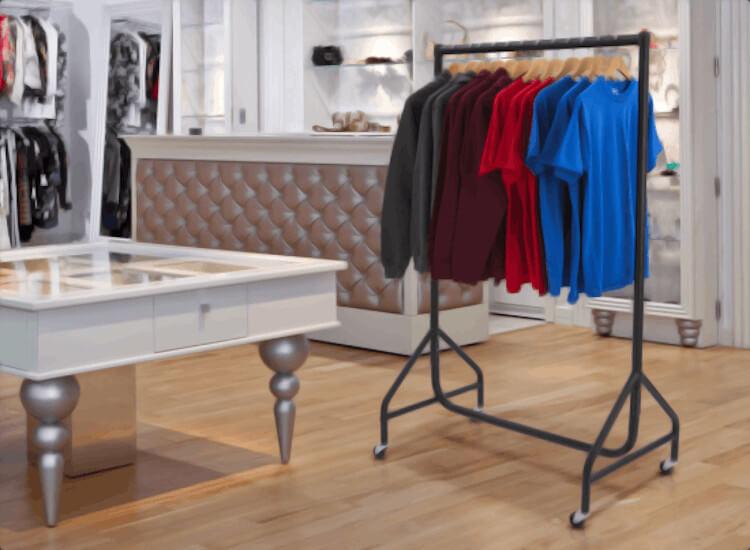 retail clothes display rails