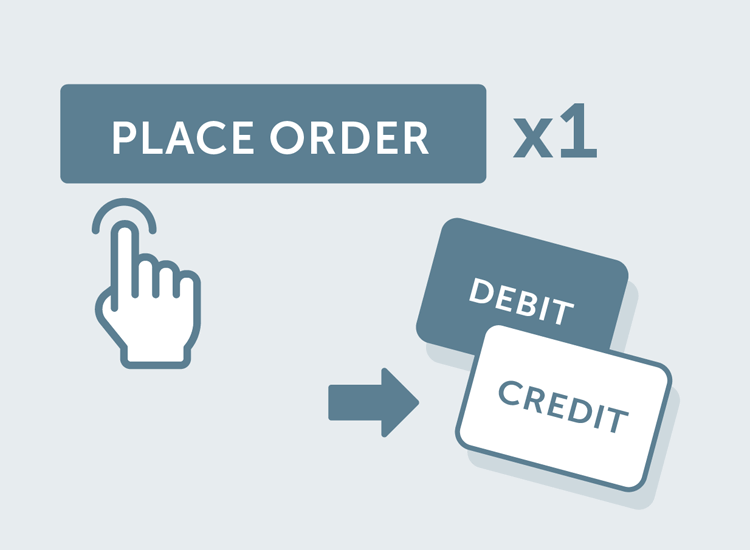Credit account payment option