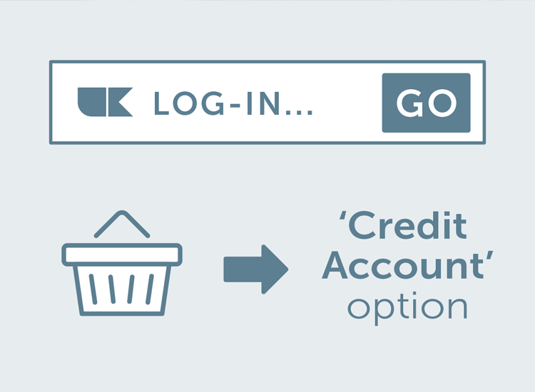 Credit account payment option.