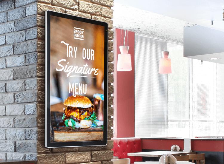 Digital advertising screens for walls