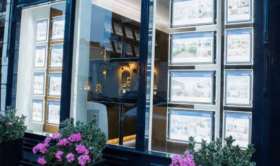 LED window displays for estate agents