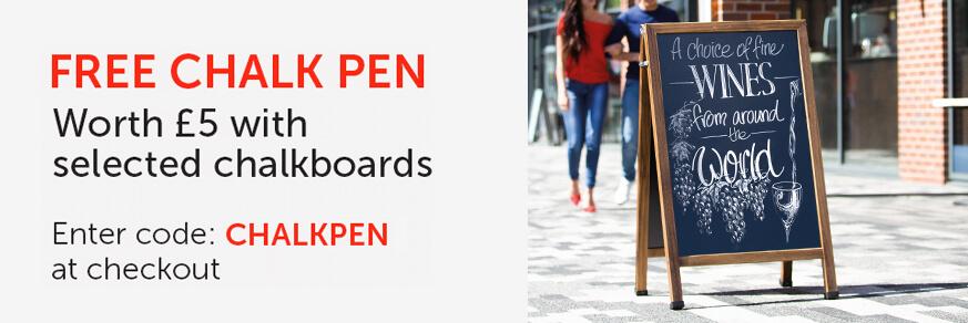 Free chalk pen