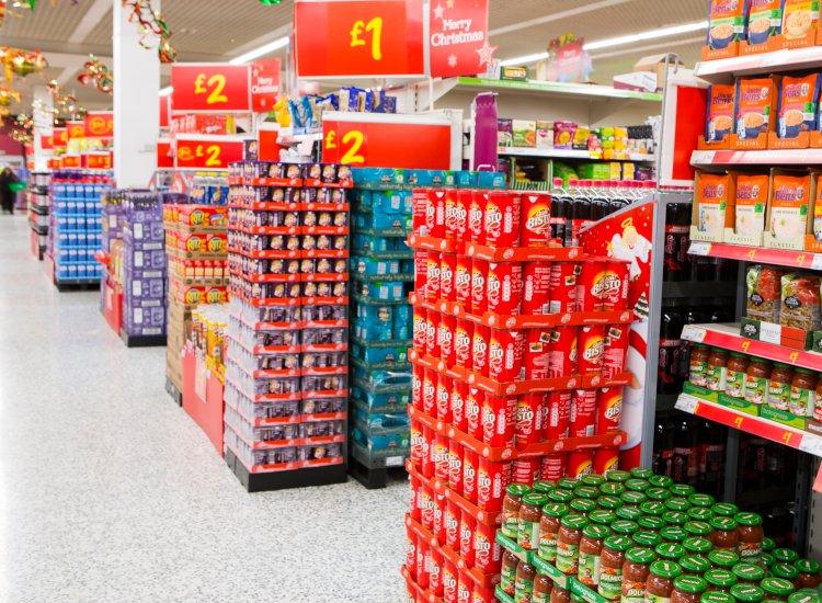 supermarket dump bins retail