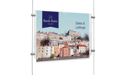 Supplies for estate agent window displays