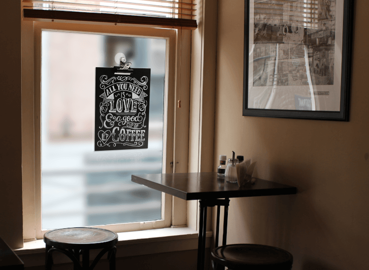 cafe window signs