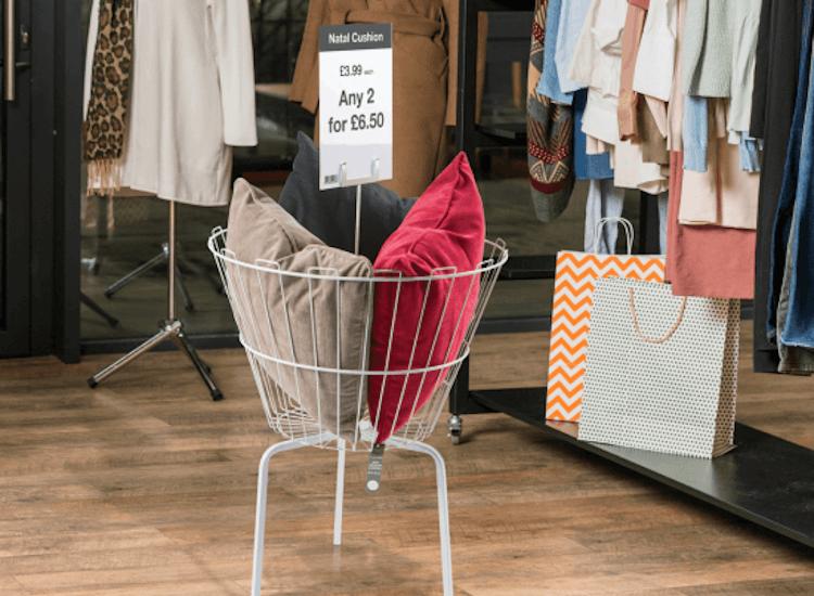 cushion dump bin for january sales
