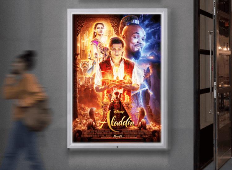 outdoor led poster frame