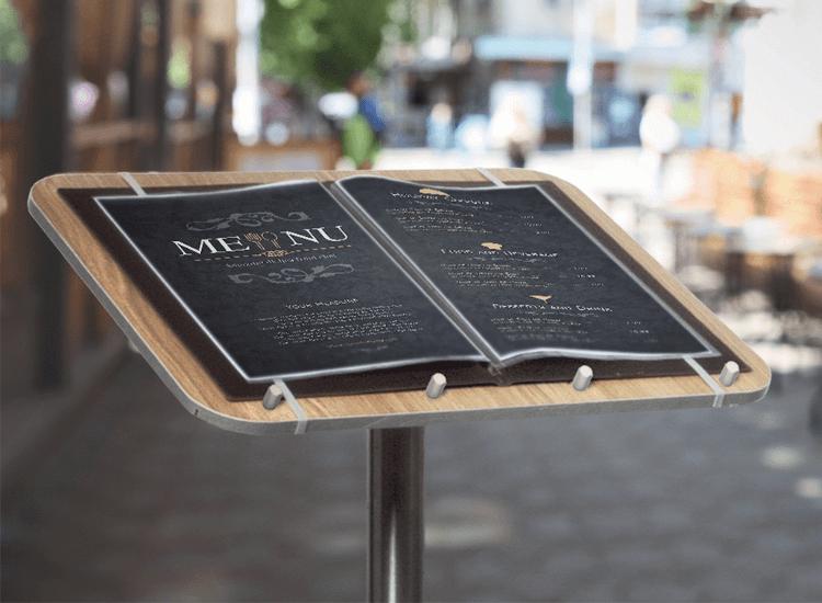 menu lectern stand