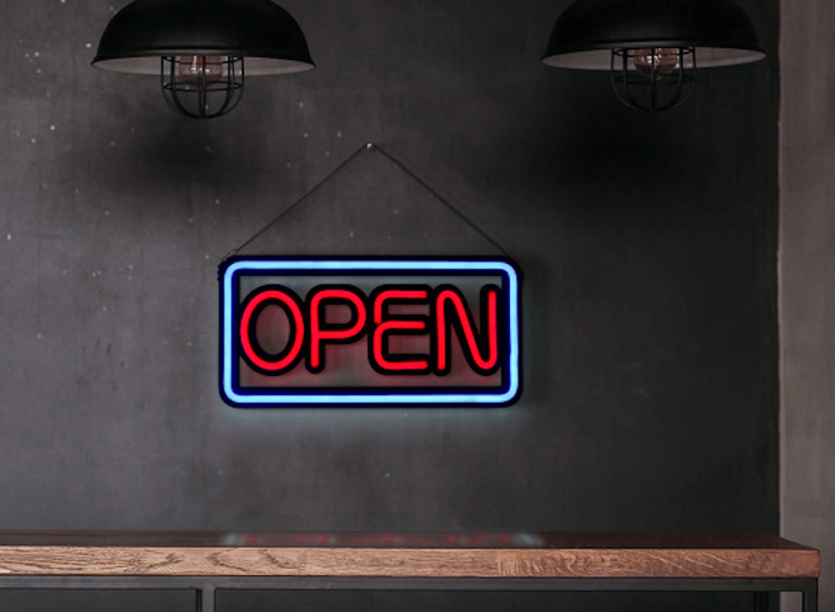 led pos displays neon open sign
