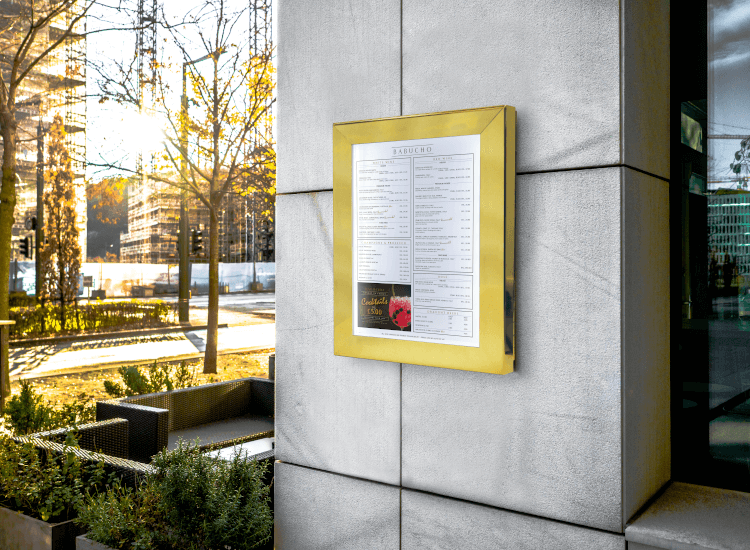 outdoor poster box, wall mounted snap frame sign