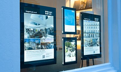 How to create estate agent window displays