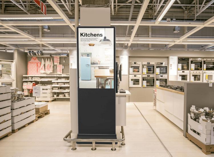 digital displays for showrooms