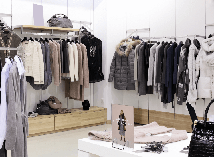 Retail clothing display stands