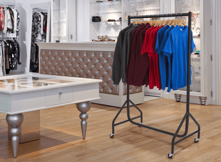 heavy duty clothes rail clothing displays