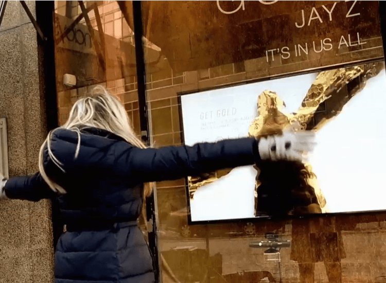 Gesture controlled technology used in interactive window displays