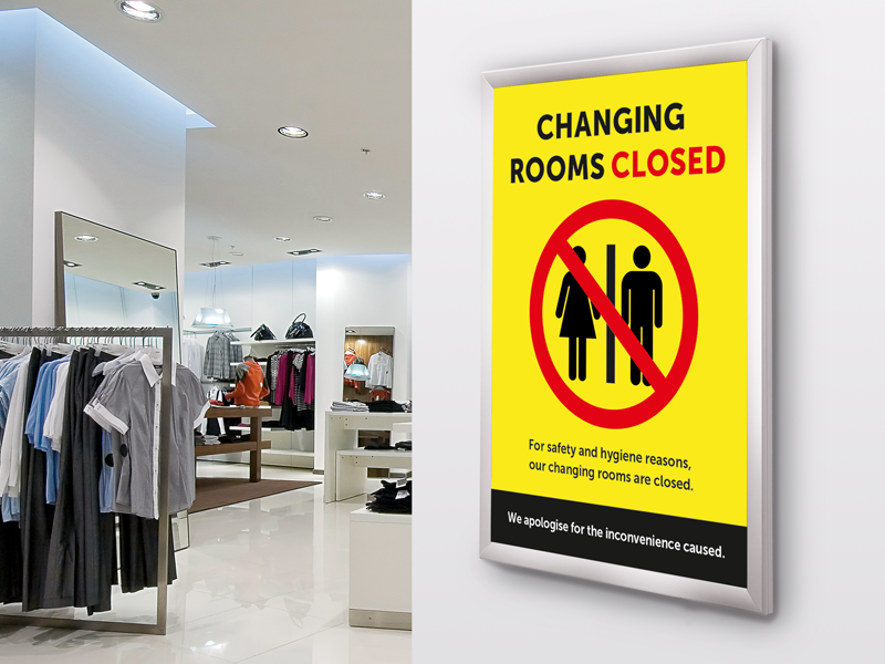Close fitting rooms to prevent contamination
