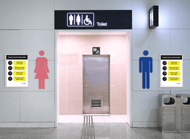 snap frame poster public toilets