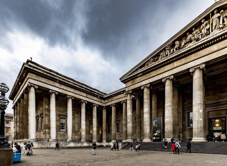 British museum entrance visitor attractions