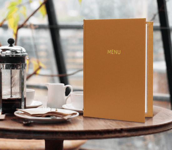 shopping experience luxury menu covers