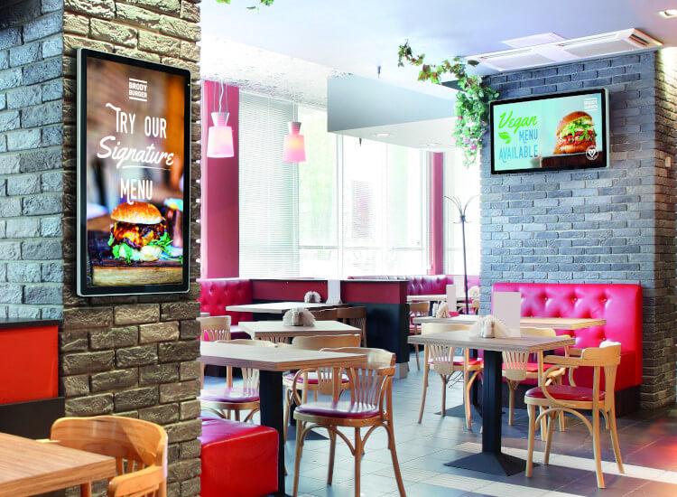 digital screens for restaurant advertising