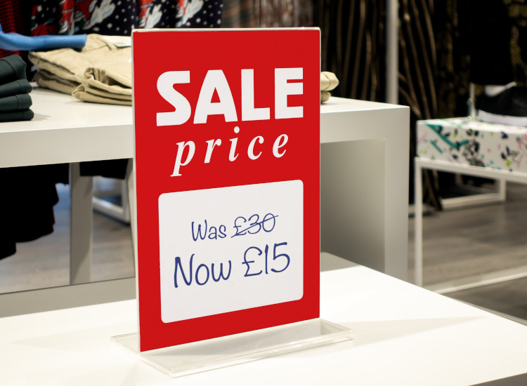 countertop sale sign