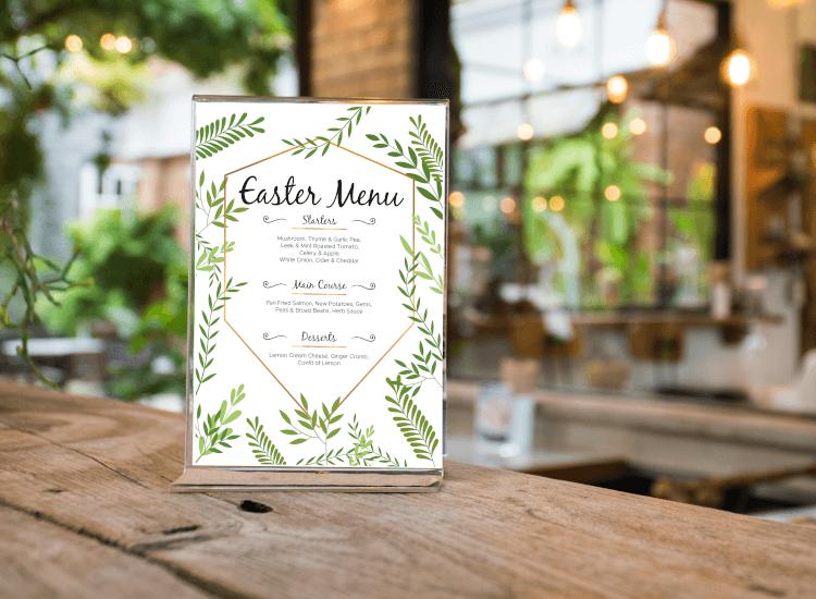 easter menu