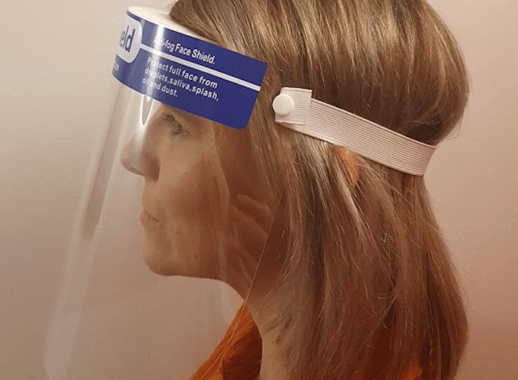 Face shields for salon staff