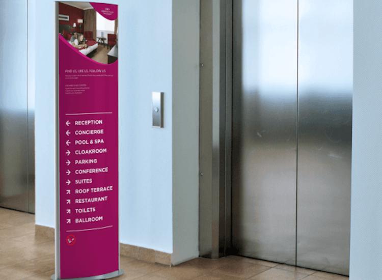 wayfinding signage department stores