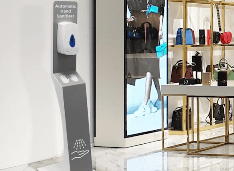 hand sanitiser dispenser for retail