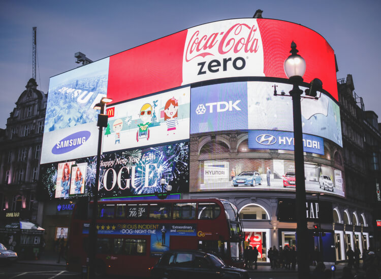 Outdoor signage helps to increase footfall in retail