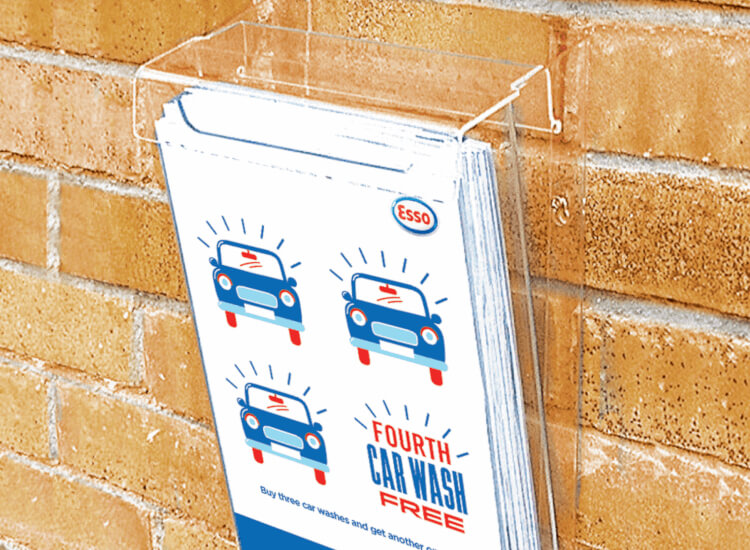 Outdoor leaflet holders for exterior advertising help to increase footfall