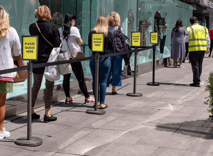 Use social distancing signage to keep customers informed and safer during lockdown
