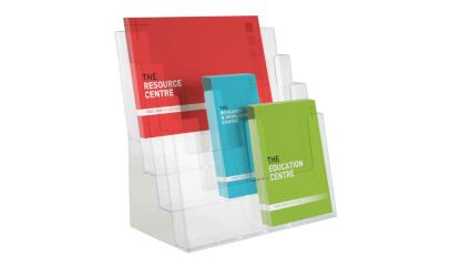 Use multifunctional leaflet displays