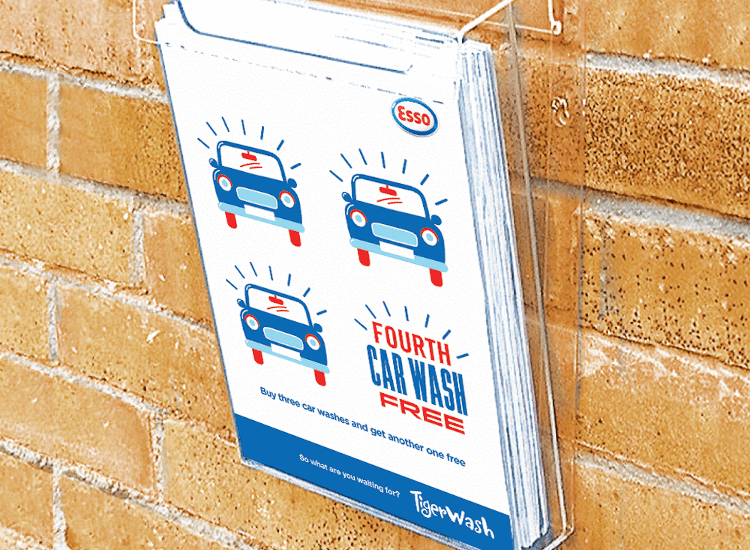 In store and outdoor leaflet advertising