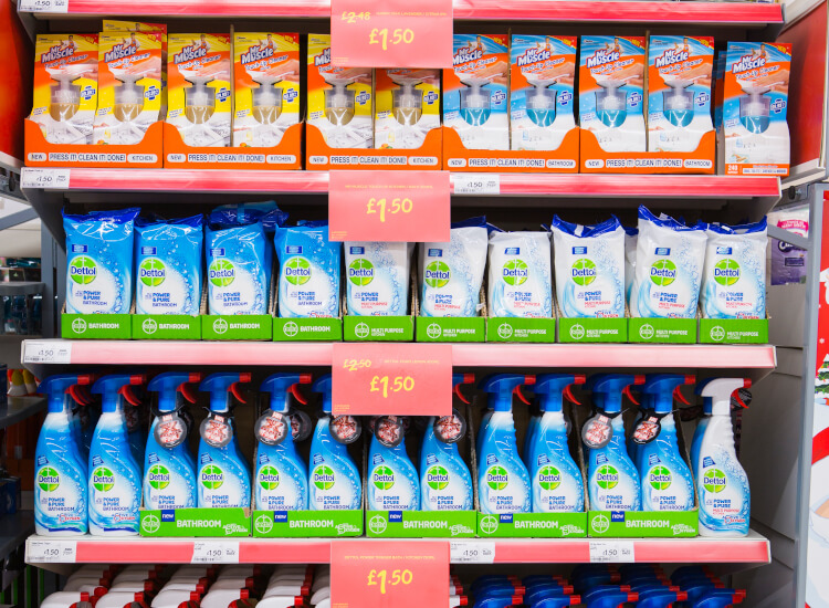shelf signage and product position in retail