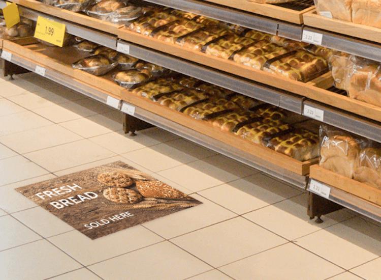 promotional floor signage