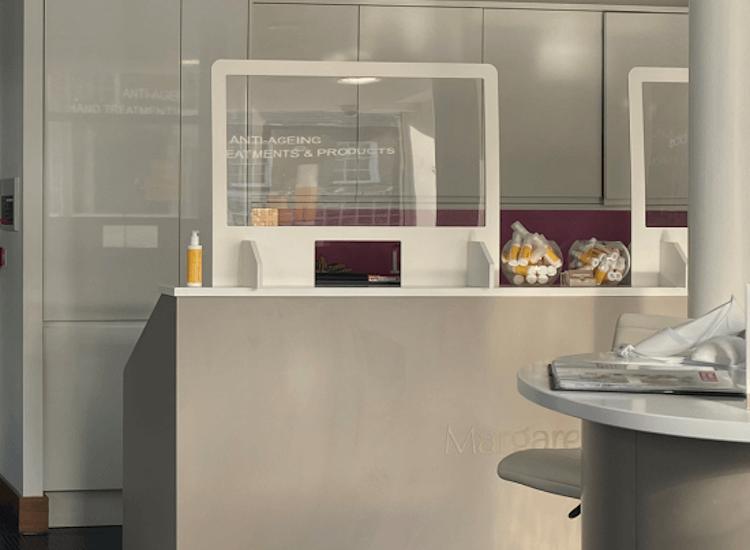 Covid screens for reception desks