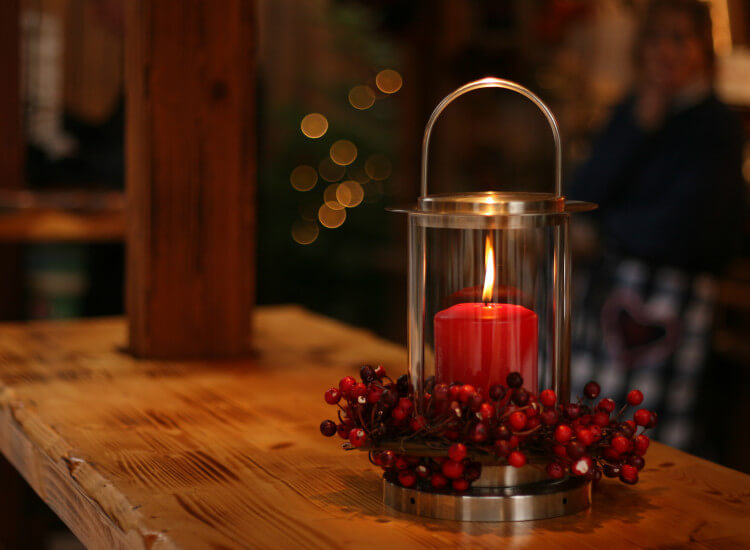 candlelit table in restaurants