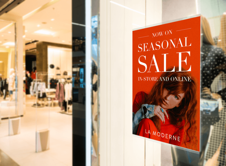 window display poster creative ways to increase retail sales